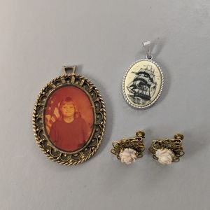 Vintage Brooch & Clip Earring Collection